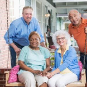 Older folks on swing
